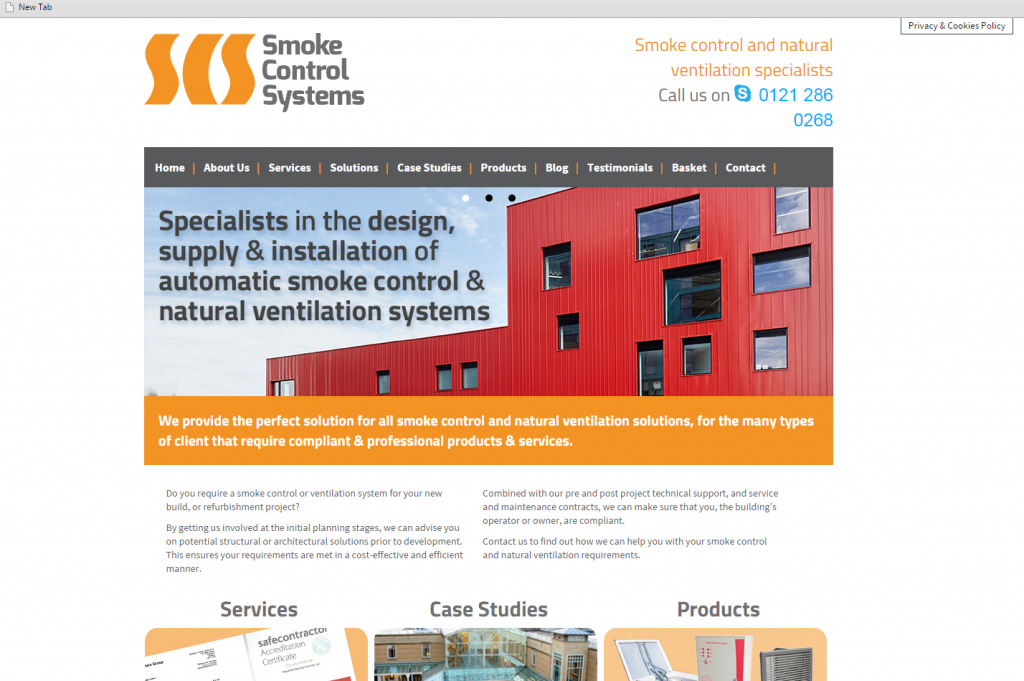 Smoke Control Systems Website
